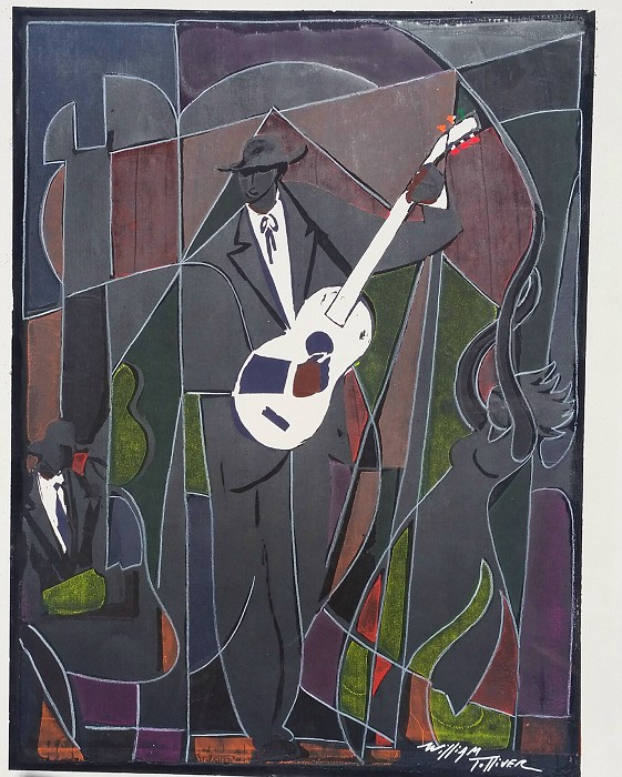 William Tolliver Nite Life Artist Signed Hand Pulled Seriagraph