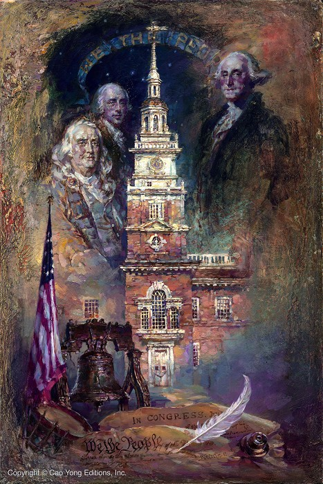 Cao Yong We The People Giclee On Canvas The Grand American Series