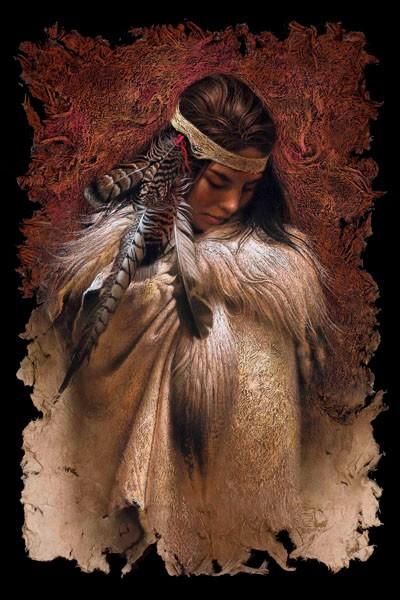 Lee Bogle Winter Maiden Giclee On Canvas