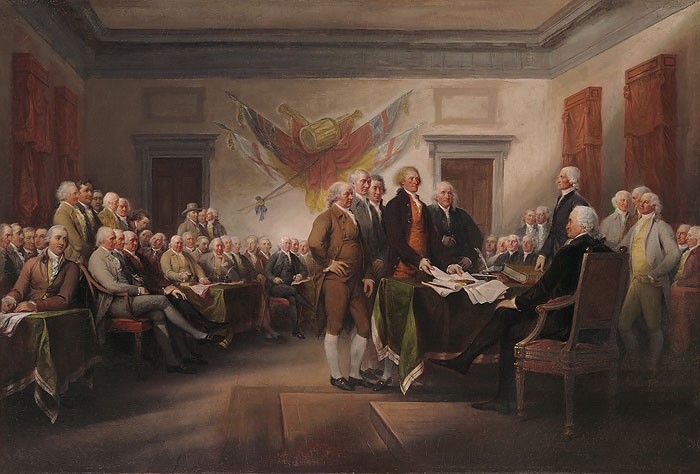 John Trumbull Declaration of Independence Giclee On Canvas
