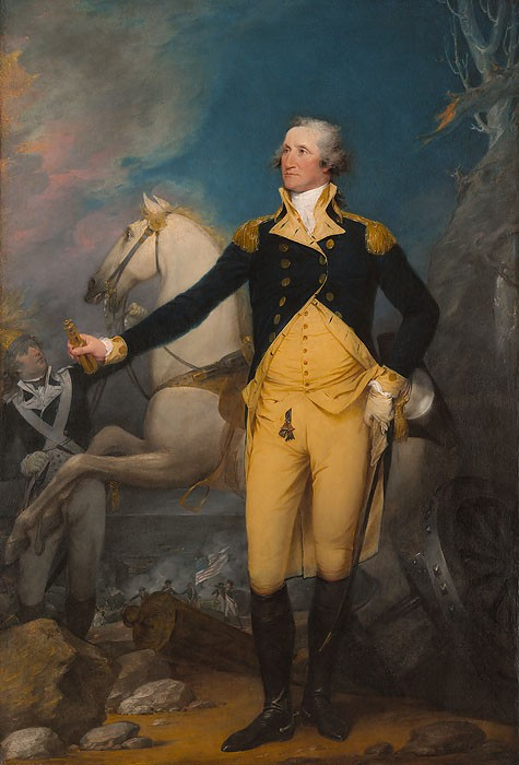 John Trumbull General George Washington at Trenton Giclee On Canvas