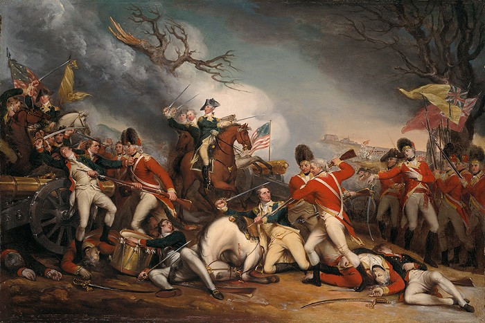 John Trumbull The Death of Genreal Mercer at the Battle of Princeton Giclee On Canvas