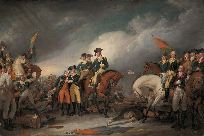 John Trumbull The Capture of the Hessians at Trenton, December 26, 1776 Giclee On Canvas