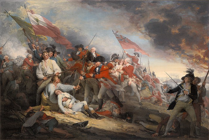John Trumbull The Battle of Bunker´s Hill, June 17, 1775 Giclee On Canvas