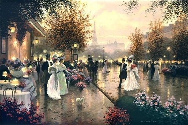Christa Kieffer A Dinner Date By Christa Kieffer Canvas  Signed & Numbered