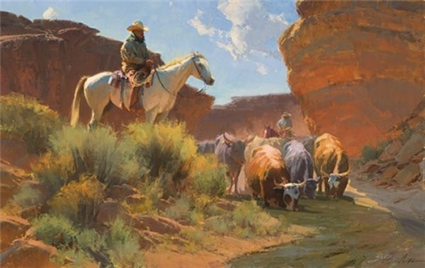 Bill AntonArroyo Respite By Bill Anton Giclee On Canvas  Signed & Numbered