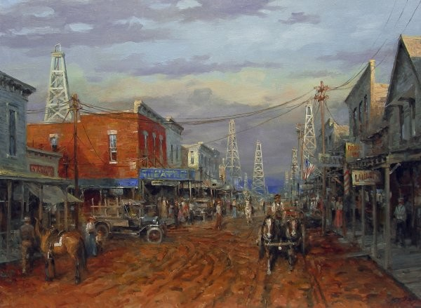 Andy Thomas Boom Town By Andy Thomas Giclee On Canvas  Signed & Numbered