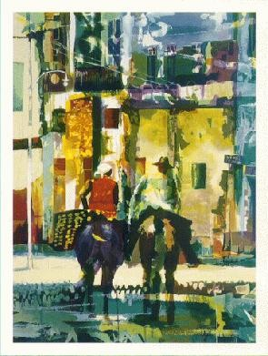 Paul Goodnight Brazilian Travelers Serigraph