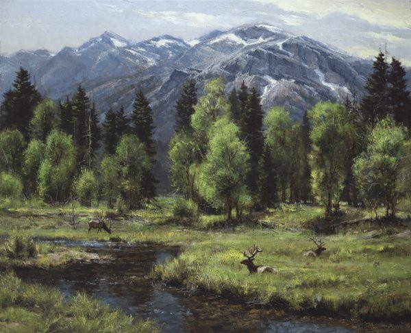 Robert PetersCalm And Free By Robert Peters Giclee On Canvas  Artist Proof