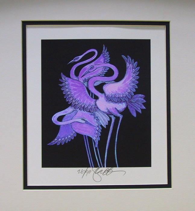 Charles BibbsLong Leg Bird - Giclee