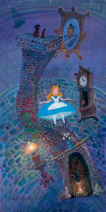 Harrison EllenshawAlice Floating Into WonderlandHand-Embellished Giclee on Canvas