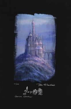 Peter / Harrison Ellenshaw Beauty And The Beast Castle Deluxe Giclee On Paper