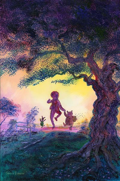 Harrison Ellenshaw Best Friends - From Disney Winnie the Pooh Hand-Embellished Giclee on Canvas