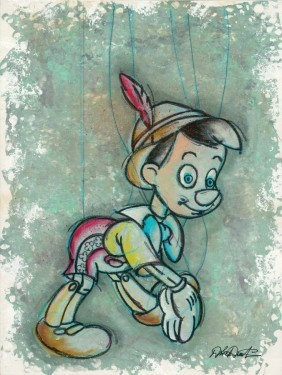 Dick Duerrstein A Boy To Be - From Disney Pinocchio Giclee On Canvas