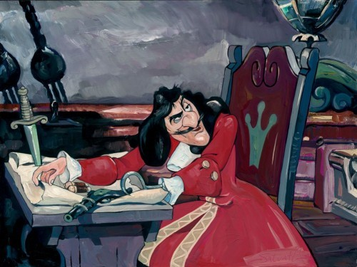 Jim SalvatiThe Captains Quarters - From Disney Peter PanHand-Embellished Giclee on Canvas