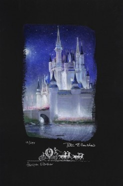 Peter / Harrison Ellenshaw Cinderella Castle Deluxe Giclee On Canvas