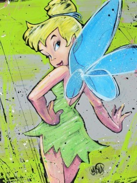 David Garibaldi Disney Dressed In Green - From Disney Peter Pan Hand-Embellished Giclee on Canvas