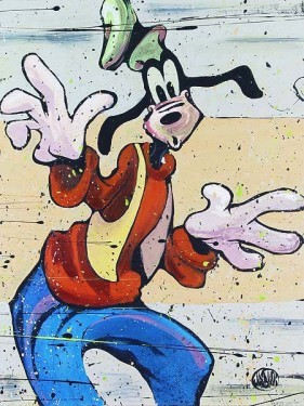 David Garibaldi Disney Goof It Up Hand-Embellished Giclee on Canvas
