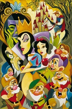 Tim Rogerson The Enchantment Of Snow White Hand-Embellished Giclee on Canvas