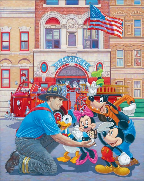 Manuel Hernandez Engine 55 Hand-Embellished Giclee on Canvas