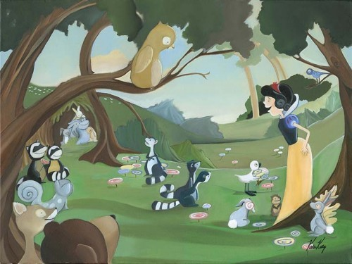Katie Kelly Forest Friends Giclée On Canvas