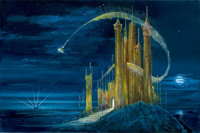 Peter / Harrison Ellenshaw The Gold Castle Giclee On Canvas