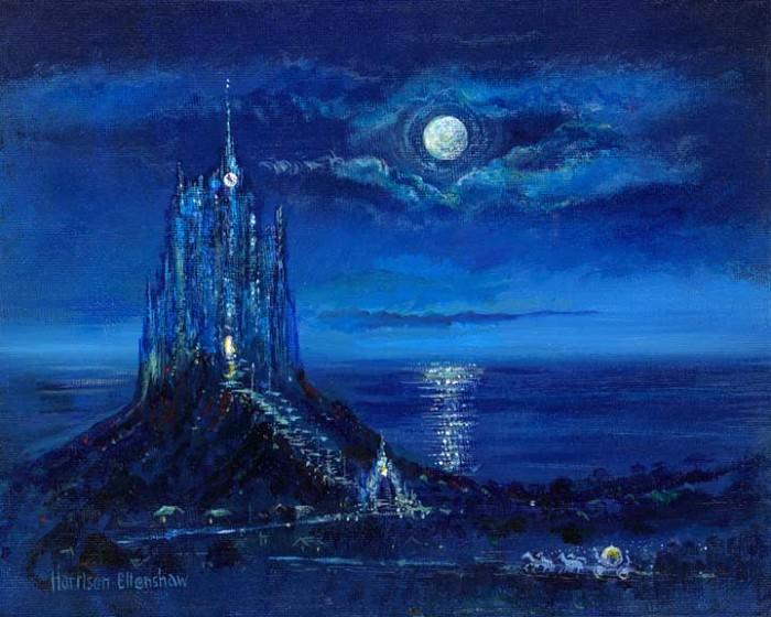 Harrison EllenshawCinderellas Moonlight ArrivalHand-Embellished Giclee on Canvas