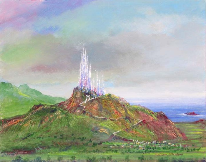 Harrison EllenshawCastle RockHand-Embellished Giclee on Canvas