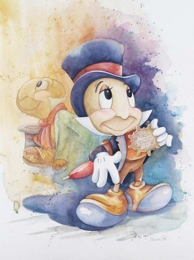 Michelle St Laurent Jiminy Cricket Giclee On Canvas