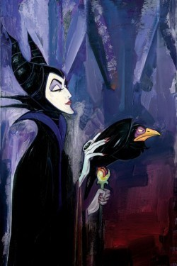 Jim Salvati Maleficent - From Sleeping Beauty Hand Textured Giclee on Canvas