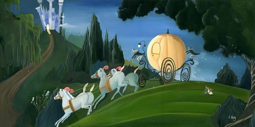 Katie Kelly Off To The Ball - From Disney Cinderella Giclee on Canvas