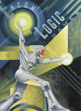 Mike Kungl Logic Games Hand Textured Giclee on Canvas