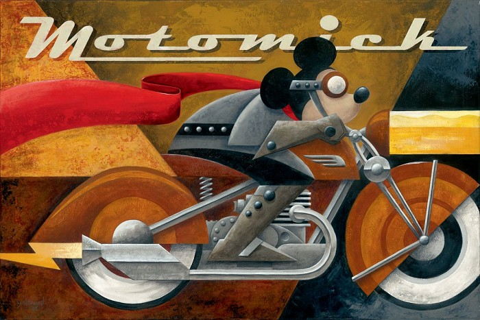 Mike Kungl Moto Mick Giclée On Hand Textured Canvas