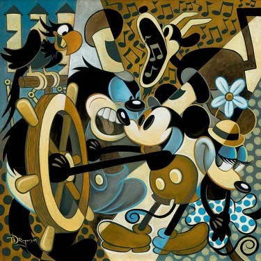 Tim Rogerson Of Mice And Music Hand-Embellished Giclee on Canvas