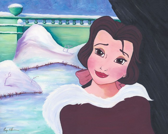 Paige O HaraBelles In Love - From Disney Beauty and The BeastHand Embelleshed Giclee On Canvas