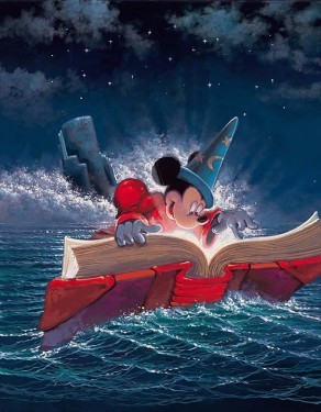 Rodel Gonzalez Sorcery - From Disney Fantasia Hand-Embellished Giclee on Canvas
