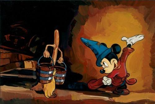 Jim SalvatiThe Sorcerers Apprentice - From Disney FantasiaHand-Embellished Giclee on Canvas