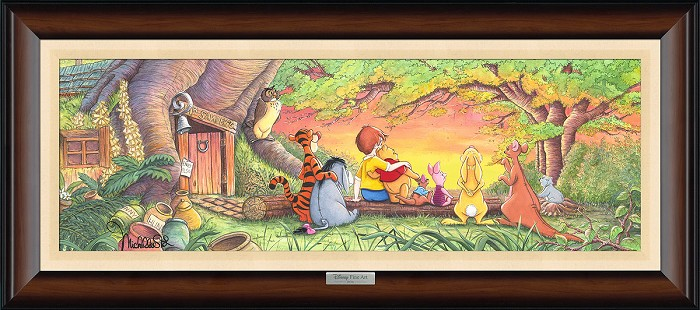 Michelle St Laurent Sunset in the Woods From Winnie The Pooh Giclee On Canvas