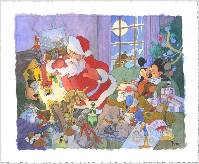 Toby BluthHome For ChristmasGiclee On Paper