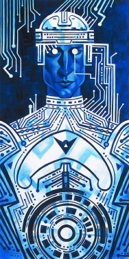 Tim Rogerson Tron In Silicon Giclee on Canvas