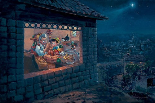 Rodel GonzalezThe Wishing Star - From Disney PinocchioHand-Embellished Giclee on Canvas