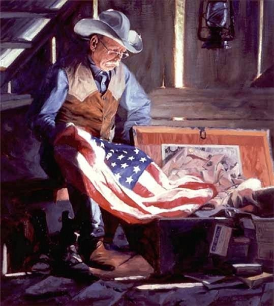 Bruce Greene Colors Of Courage By Bruce Greene Giclee On Canvas  Signed & Numbered