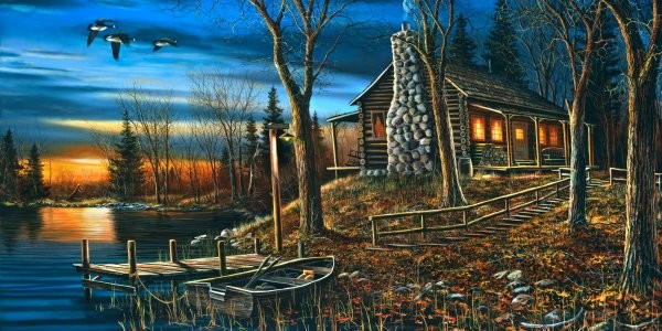 Jim Hansel Complete Serenity By Jim Hansel Giclee On Canvas  Signed & Numbered