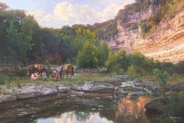 Bob WygantCowboy Coffee Time By Bob Wygant Giclee On Canvas  Artist Proof