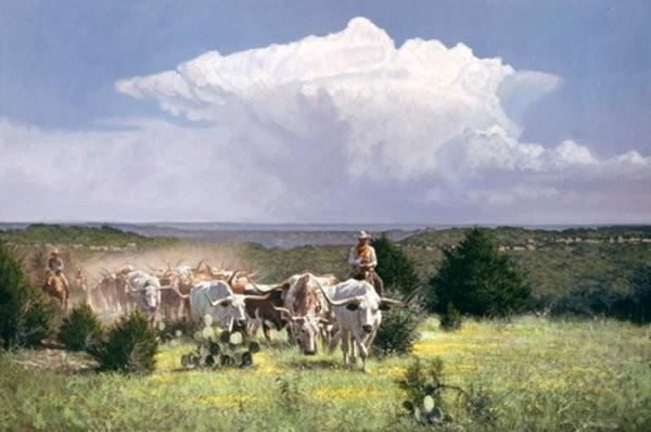 Ragan GennusaDistant Thunder By Ragan Gennusa Giclee On Canvas  Signed & Numbered