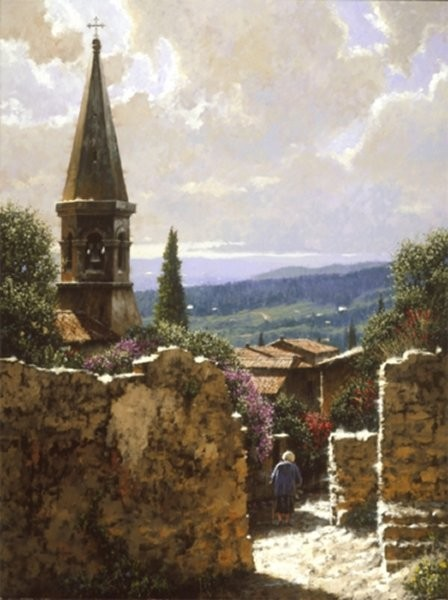 George HallmarkDomonica By George Hallmark Giclee On Canvas  Signed & Numbered
