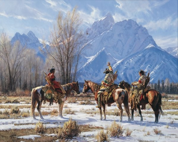 Martin GrelleEagle Prayer By Martin Grelle Giclee On Canvas  Signed & Numbered