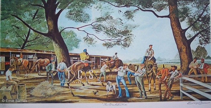 Ernie BarnesThe Backstretch Signed And Numbered Limited EditionLithograph