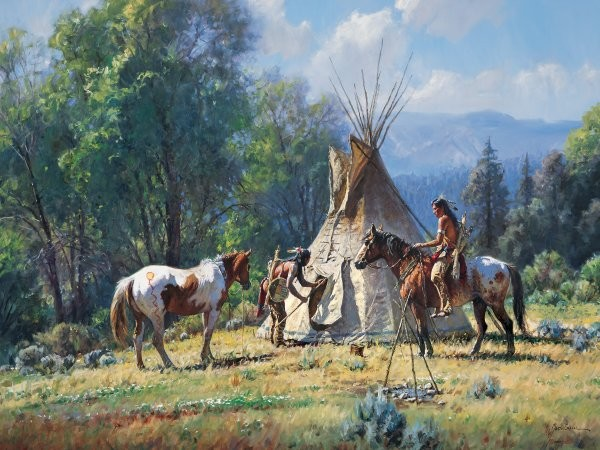 Martin GrelleEmpty Lodge By Martin Grelle Giclee On Canvas  Signed & Numbered