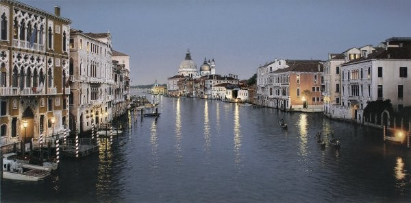 Rod Chase Evening In Venice By Rod Chase Giclee On Canvas  Signed & Numbered